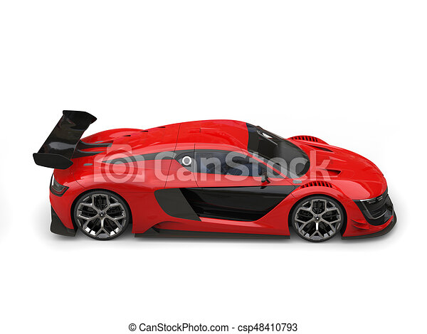 Simple Red Super Race Car Top Side View Stock Illustration - Simple sports car