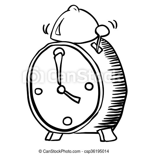 Simple Reveil Noir Blanc Horloge