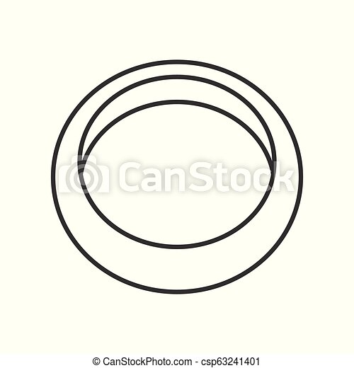 simple ring, jewelry related, outline vector icon - csp63241401
