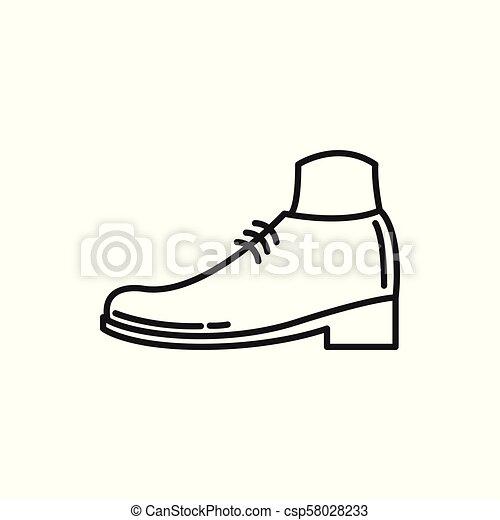 Simple Shoe Thin Line Icon Illustration Design - csp58028233