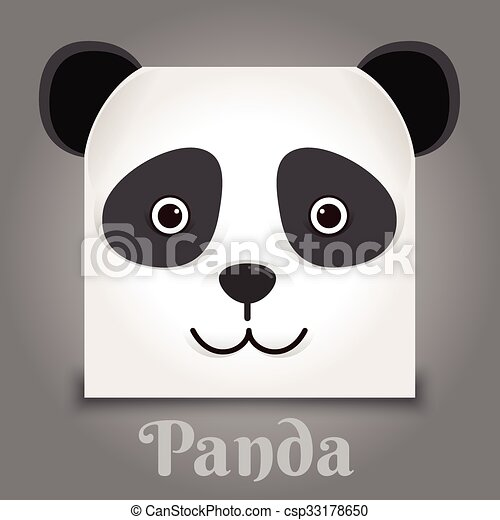 simple sign a panda design template on black background vector