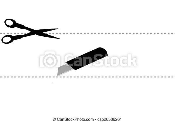 simple sign, Scissor, cut here - csp26586261