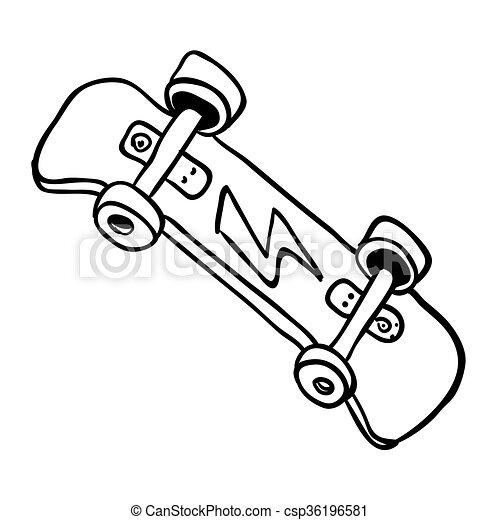 Simple Skateboard Blanc Noir