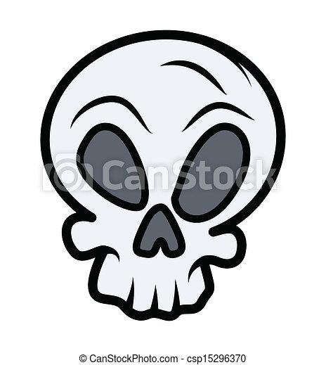 Simple Skull Tattoo Drawing Art Of Retro Cartoon Skull Head Vector