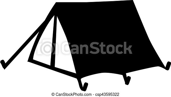 Simple Small Tent Vector  sc 1 st  Can Stock Photo & Simple small tent vector illustration - Search Clipart Drawings ...