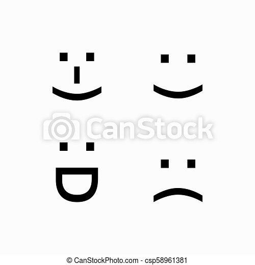 Simple Smiley Face Logo Keyboard Sign