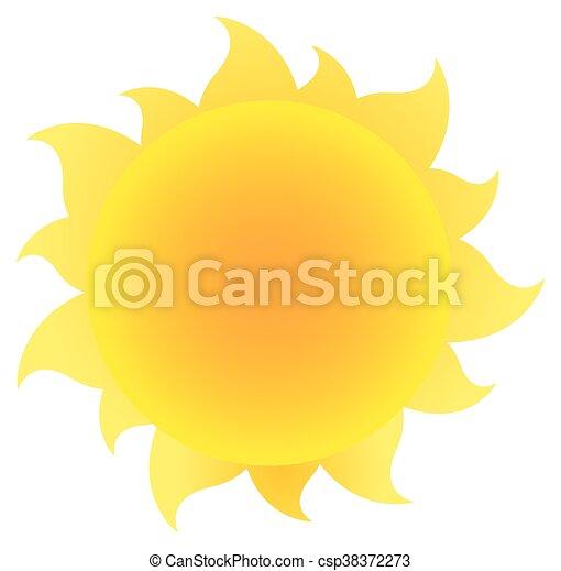 simple, soleil, gradient, jaune - csp38372273