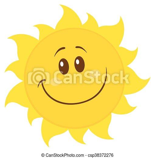 simple, soleil, sourire, jaune - csp38372276
