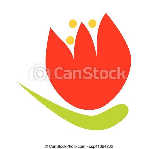 Simple Stylisé Fleur Dessin Animé Tulipe