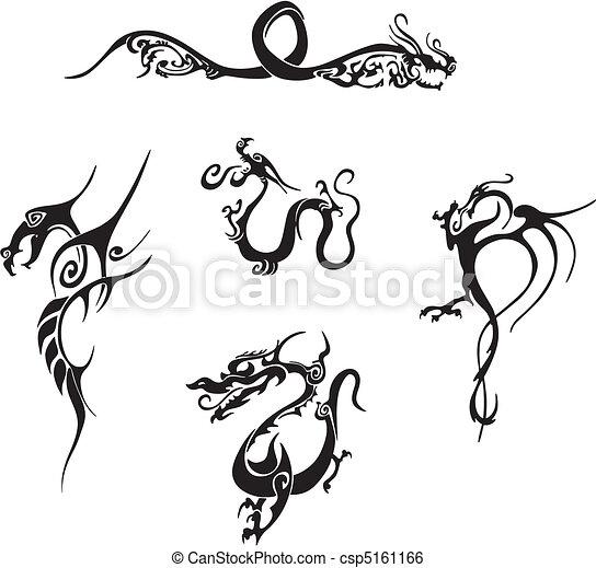 Simple Tatouages Dragon