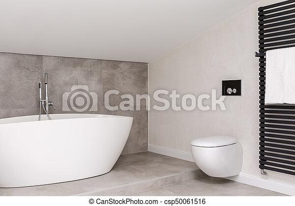 Simple, toilette, salle bains. Toilette, salle bains, réchauffeur ...
