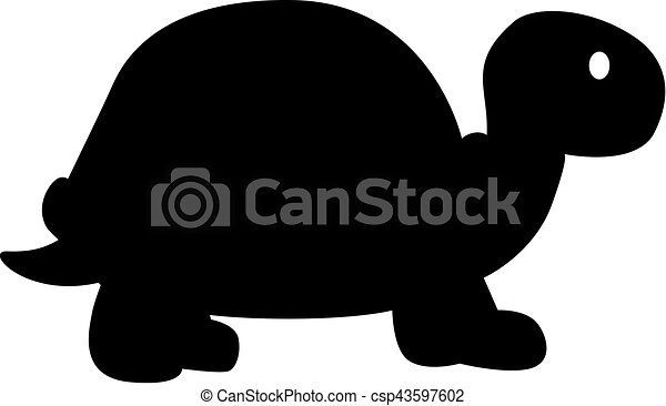 Simple tortue silhouette - Clipart tortue ...