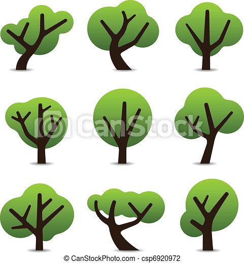Simple tree icons - csp6920972