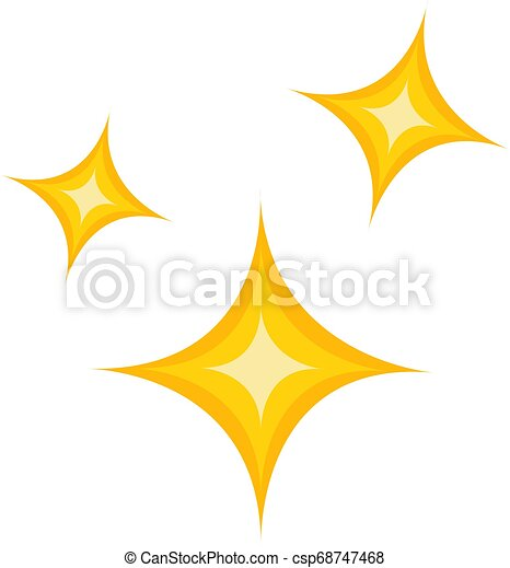 Simple vector illustration of a yellow christmas stars on white background - csp68747468