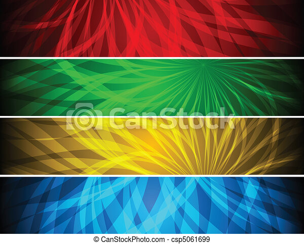 Simple vibrant banners - csp5061699