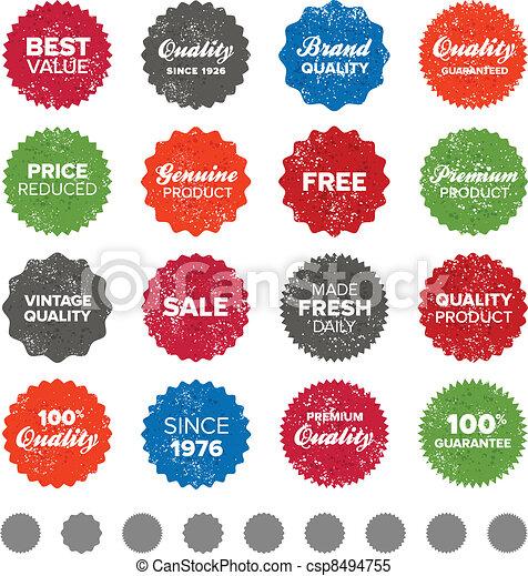 Simple vintage badges - csp8494755