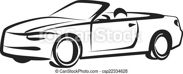 simple, voiture, illustration - csp22334628