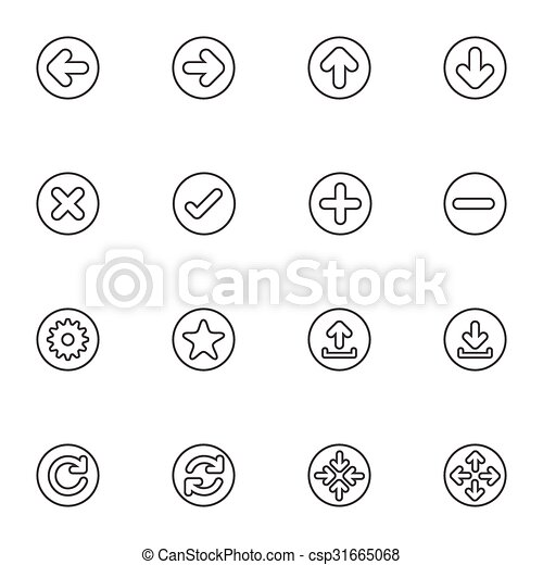 Simple Web icon sets. Line icons. - csp31665068