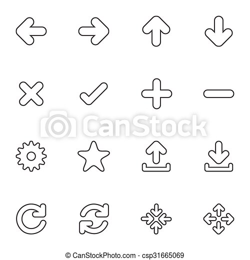 Simple Web icon sets. Line icons. - csp31665069
