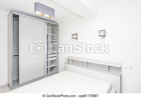 Simple White Empty Bedroom Interior Simple White Bedroom Interior