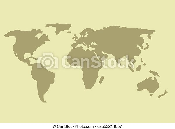 Simple world map earth design planet illustration clipart vector simple world map csp53214057 gumiabroncs Gallery