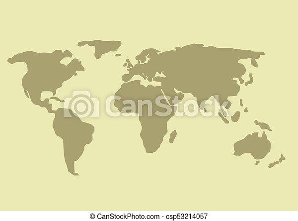 simple world map earth design planet illustration