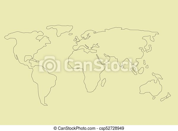 Simple world map simple hand drawn world map vector illustration simple world map csp52728949 gumiabroncs Choice Image