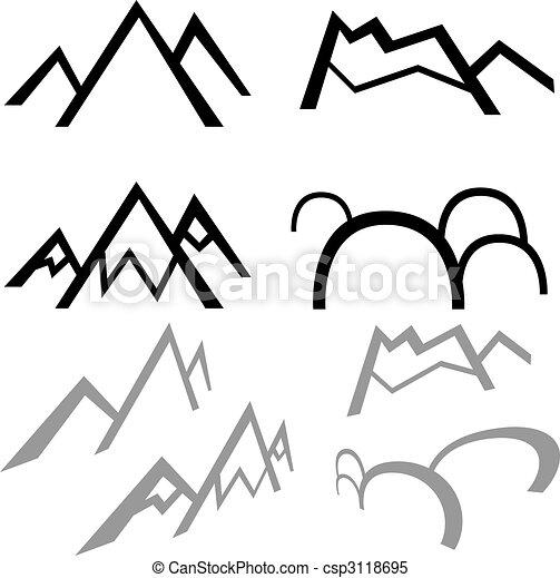simples, montanhas - csp3118695