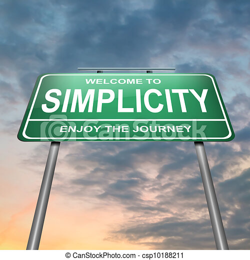 Simplicity concept. - csp10188211