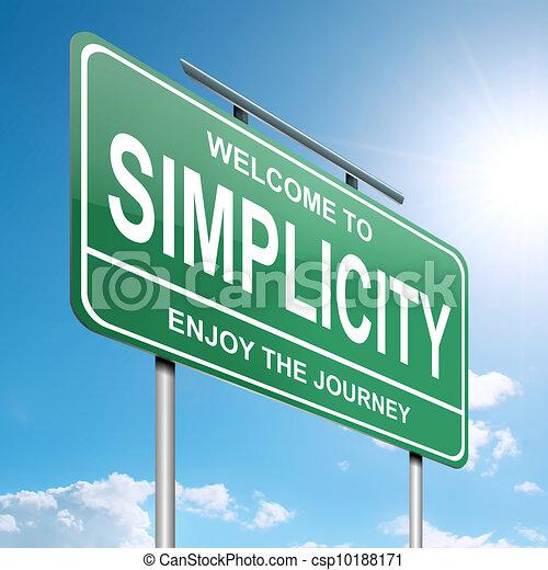 Simplicity concept. - csp10188171