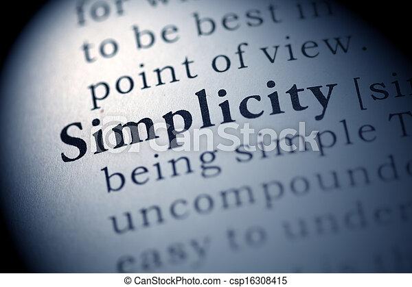 Simplicity - csp16308415