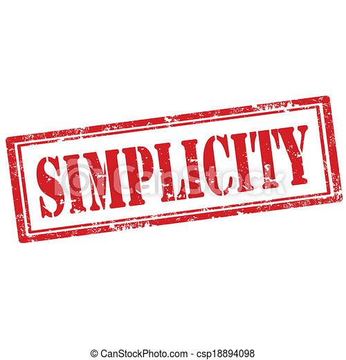 Simplicity-stamp - csp18894098