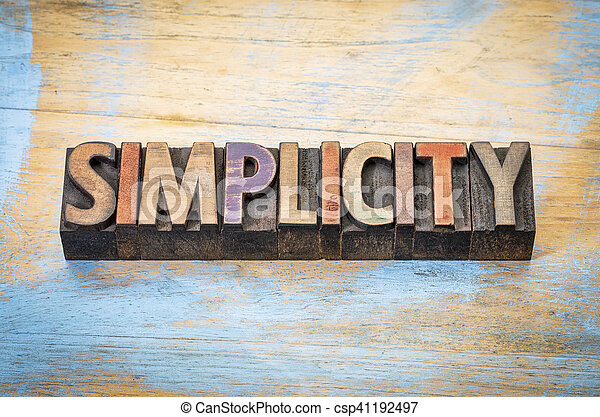 simplicity word abstract - csp41192497