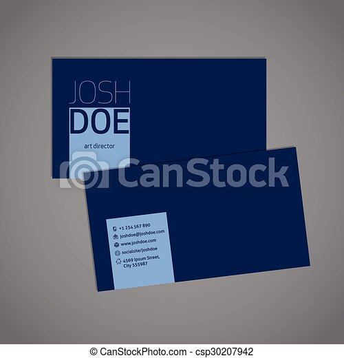 Simplistic blue business card template simplistic yet cool eps simplistic blue business card template csp30207942 cheaphphosting Gallery