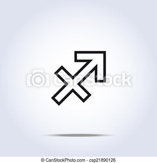 Simplistic Sagittarius Zodiac Star Sign Vector Illustration Vector