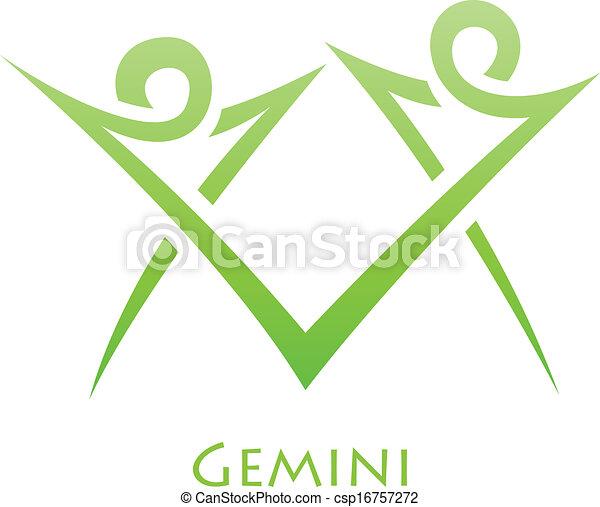 simplistic, zodiac, gemini, sterteken - csp16757272