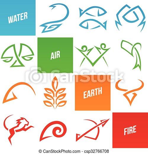 simplistic, zodiac, stertekens - csp32766708