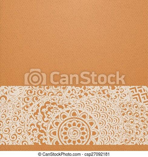 sinaasappel, cirkels, ornament, japanner - csp27092181