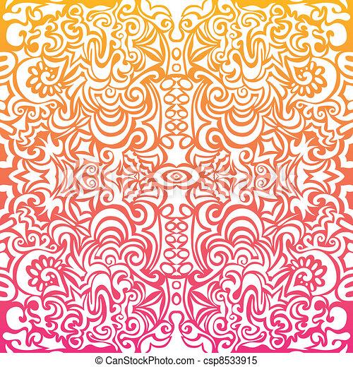 sinaasappel, tatoeëren, achtergrond, witte  - csp8533915