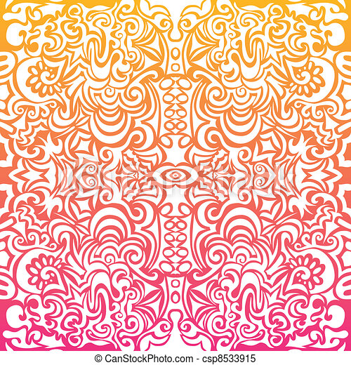 sinaasappel, tatoeëren, witte achtergrond - csp8533915