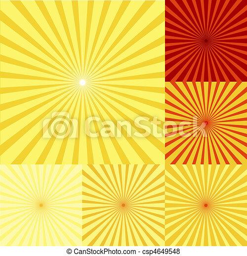 sinaasappel, twirls, set, gele, rood - csp4649548