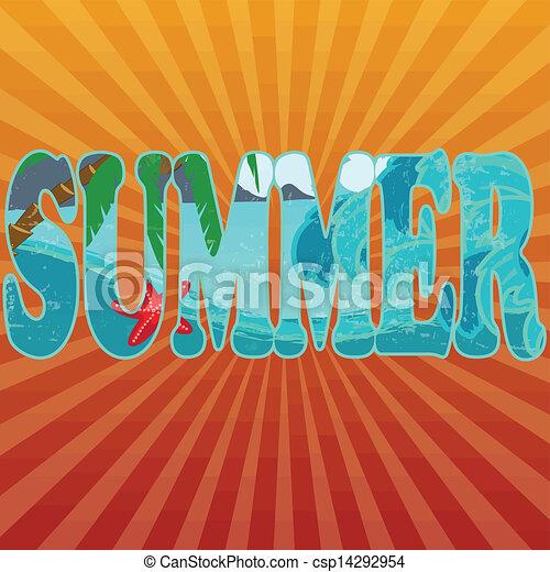 sinaasappel, zomer, titel - csp14292954