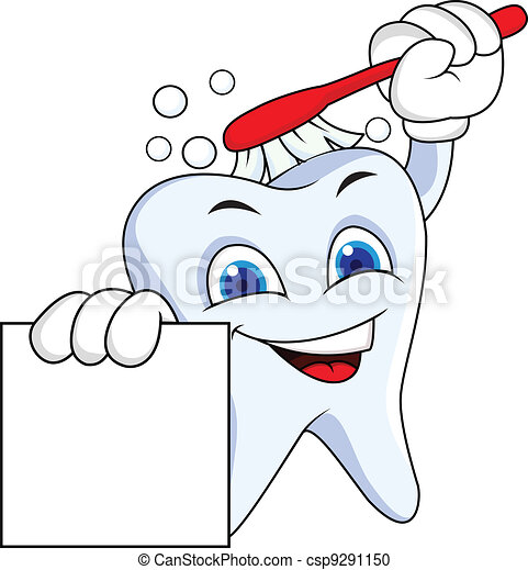 sinal, dente, em branco - csp9291150