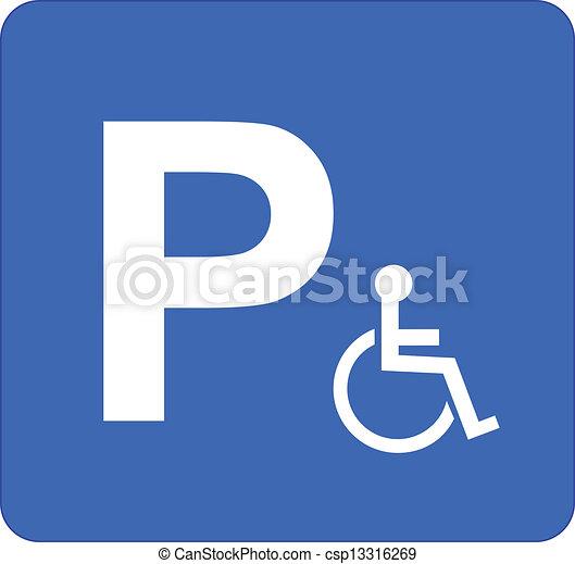 sinal estacionamento - csp13316269