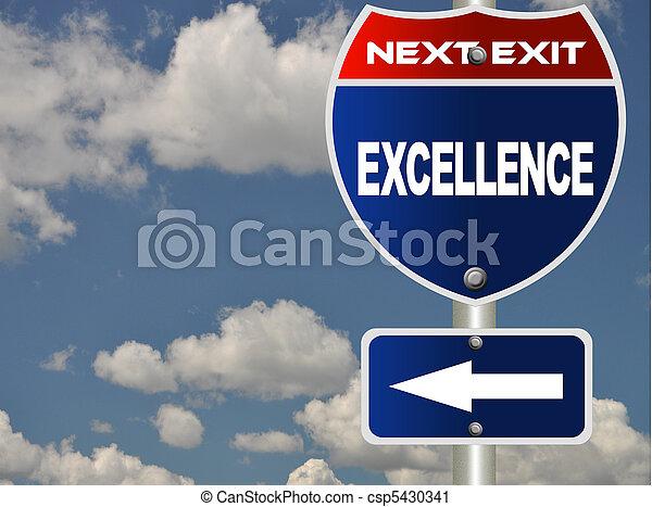 sinal estrada, excelência - csp5430341