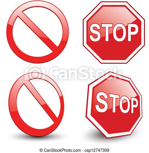 sinal parada - csp12747309