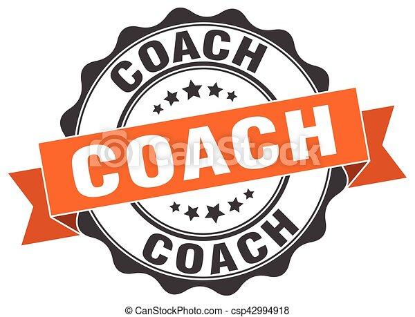 sinal., treinador, stamp., selo - csp42994918