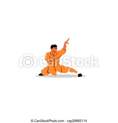 Sinal Vetorial Illustration Monge Shaolin Modelo Marcar