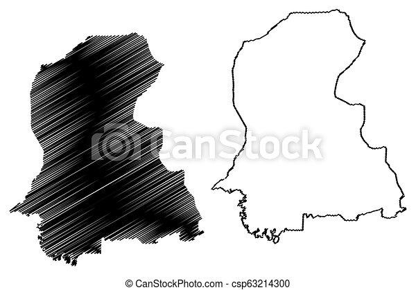 Sindh map - csp63214300
