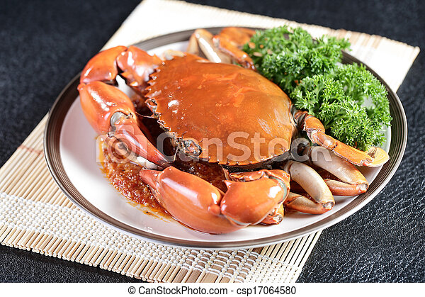 Singapore chili mud crab  - csp17064580